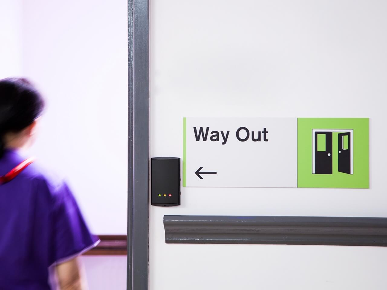 Dementia friendly signage for the wayfinding scheme at Haven Court