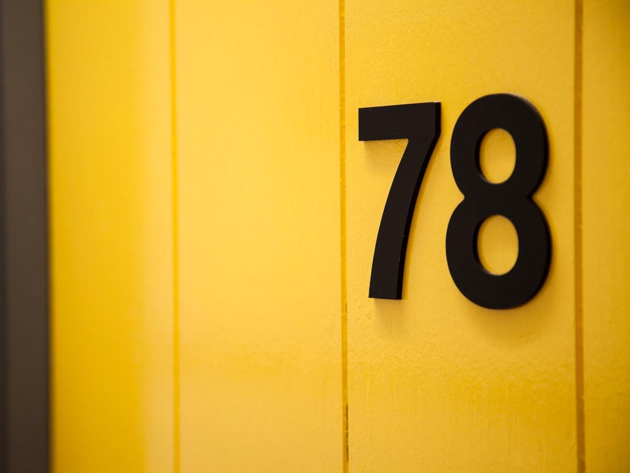 3D door numbering as part of a dementia friendly wayfinding scheme at Haven Court