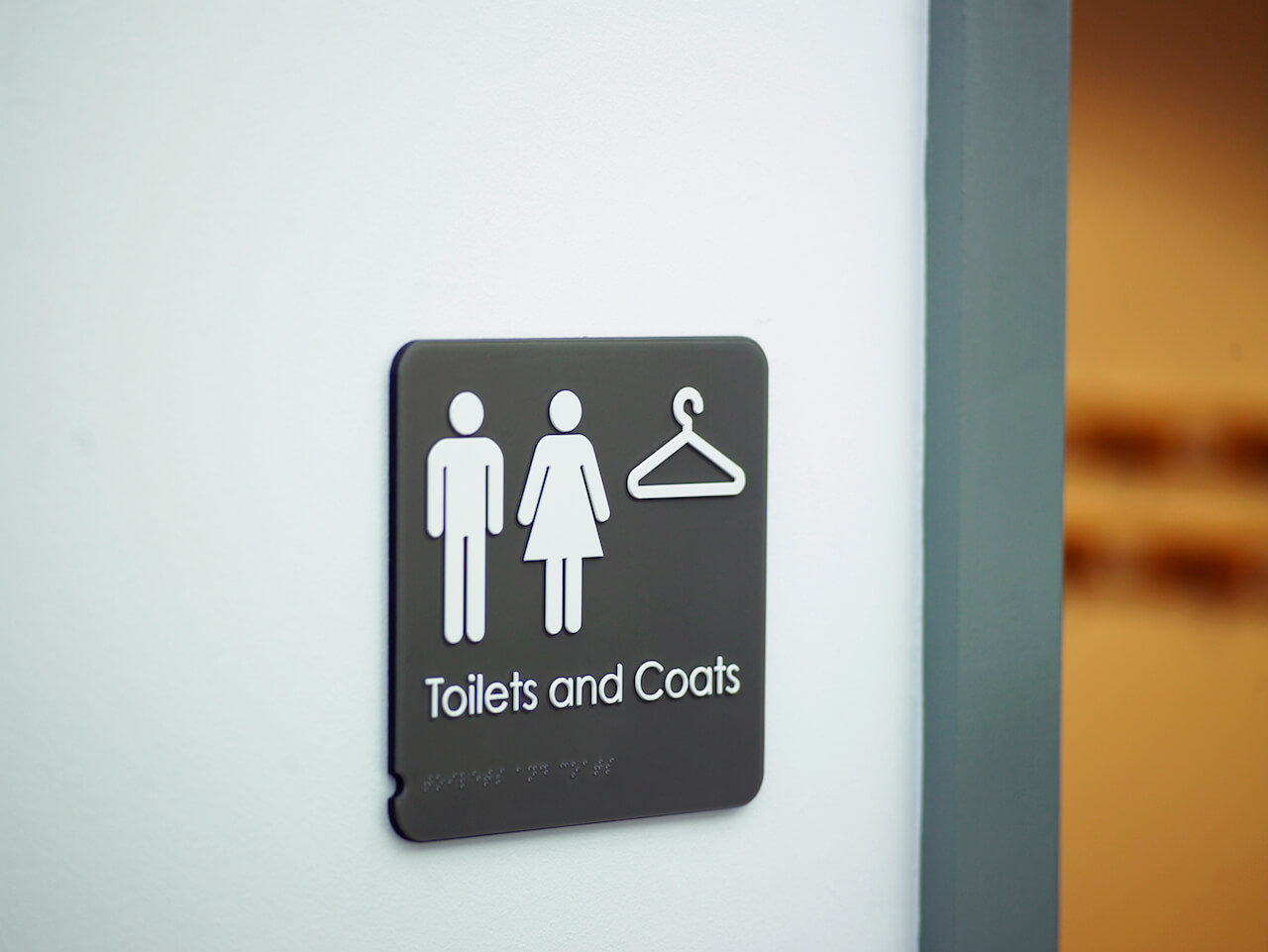 Pictograms as part of a school wayfinding and signage scheme