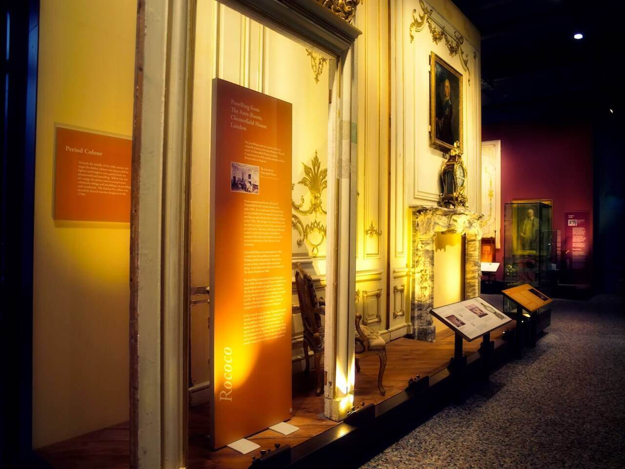 An image to show the description signs along an exhibit