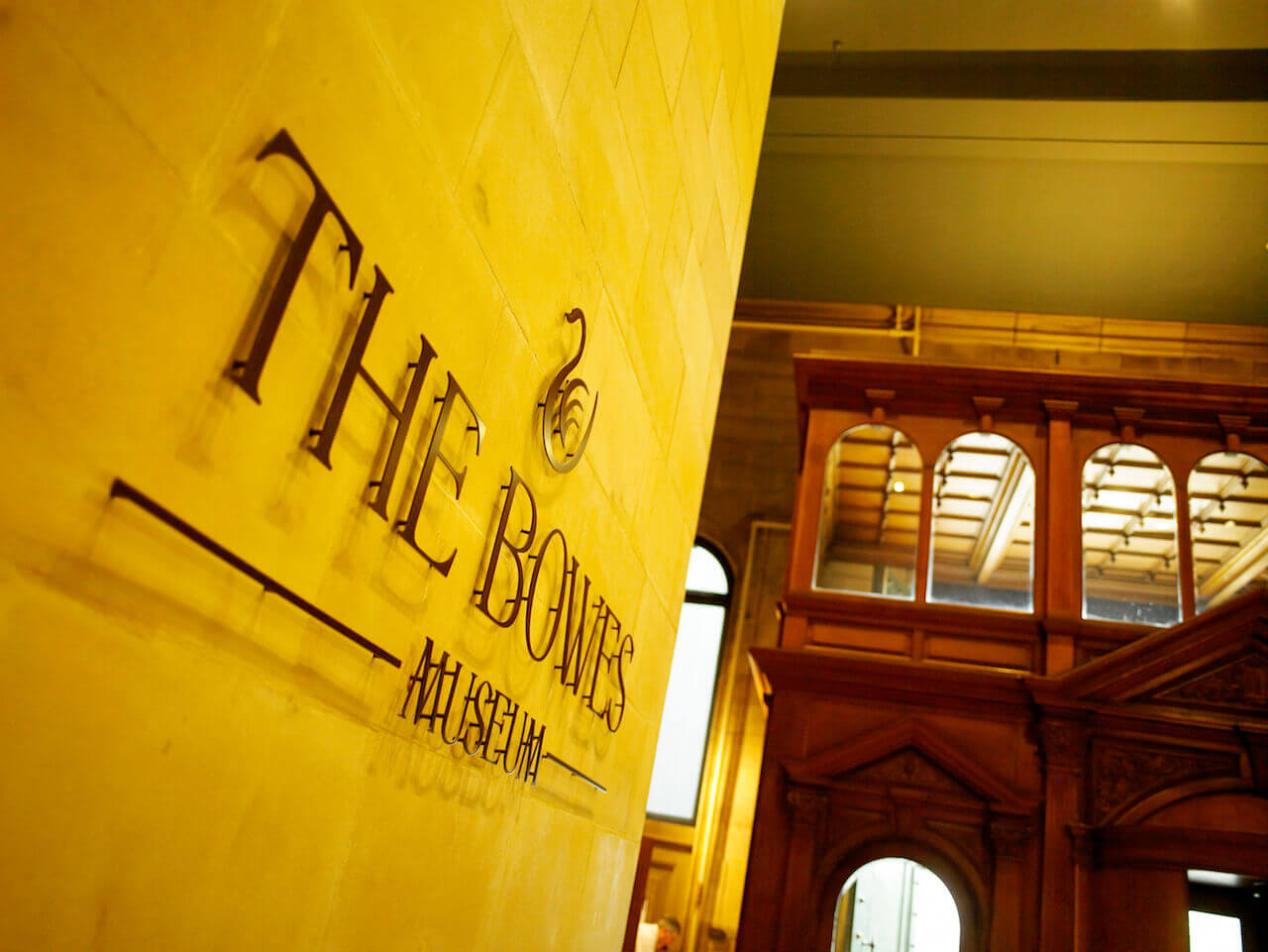 Design-led wayfinding and signage in the Bowes Museum foyer
