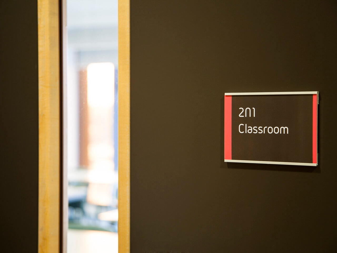 Classroom door signage