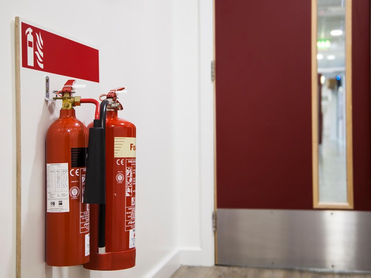 Mounted fire extinguisher boards