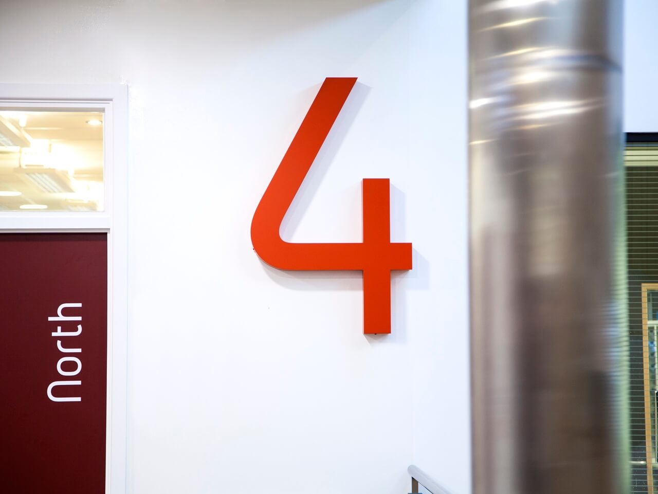 3D signage for floor numbers