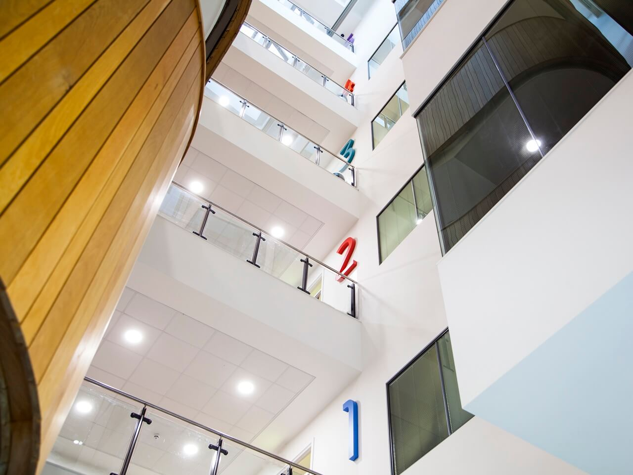 Design-led wayfinding defines each floor at award-winning Rochdale Sixth Form College