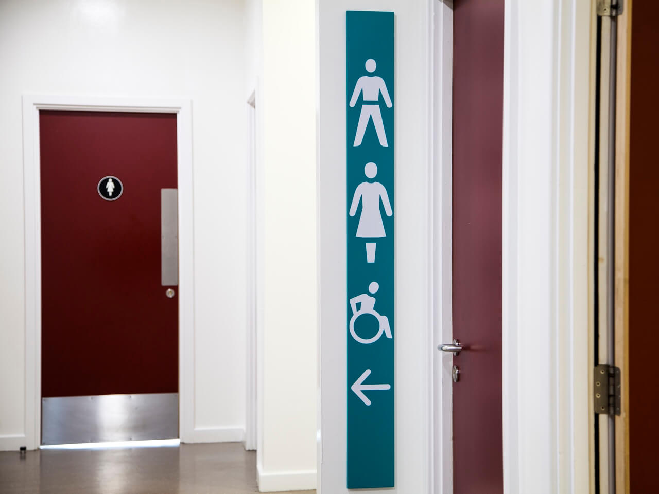 Toilet sign pictograms