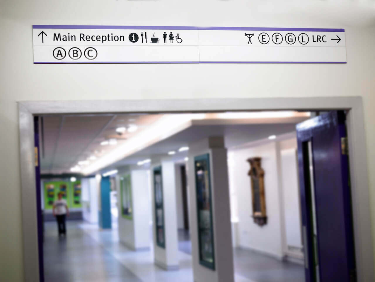 Design-led wayfinding at South Tyneside College helps people navigate the college's vast and complex site