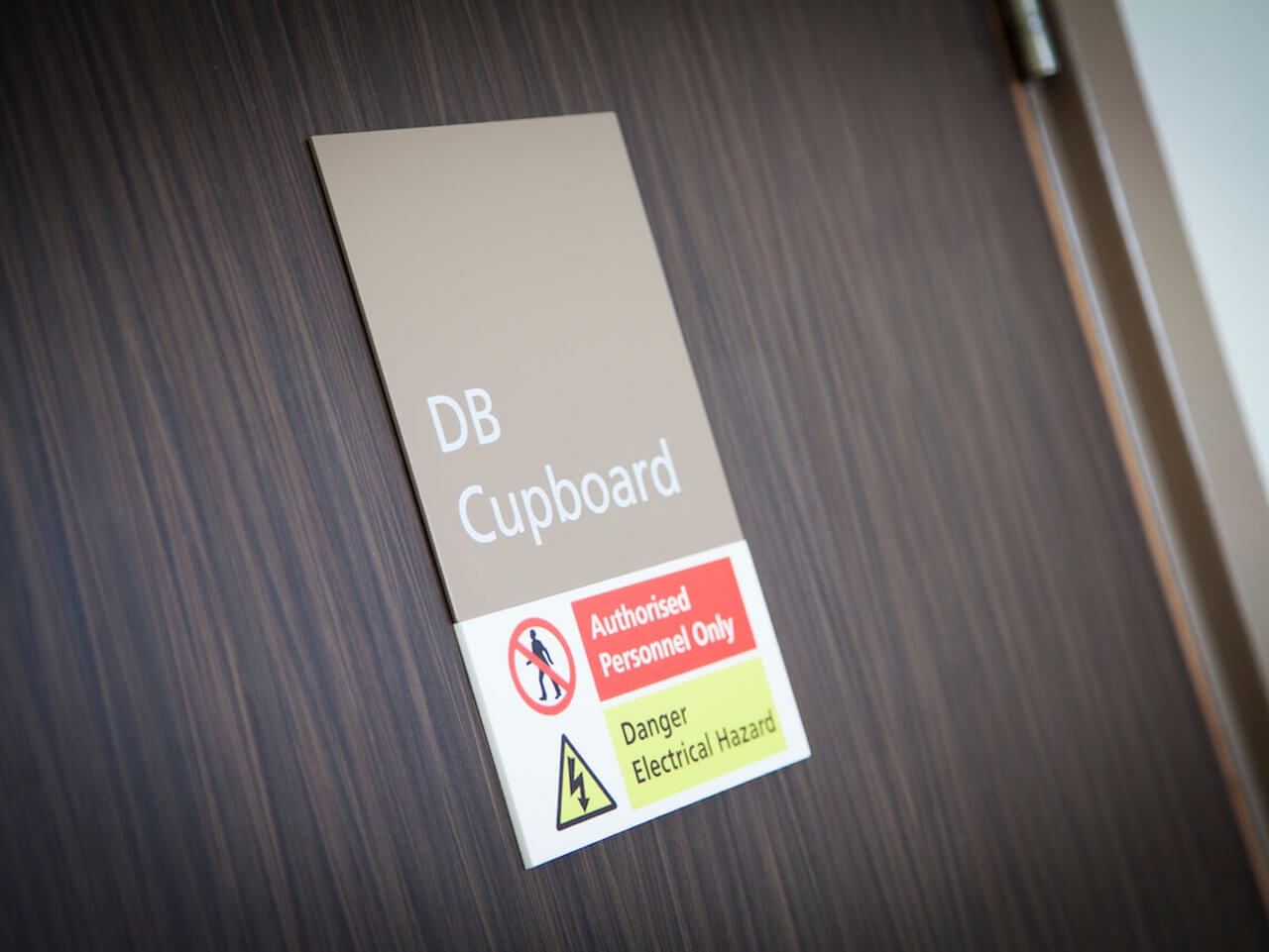 Internal door signage and statutory signage