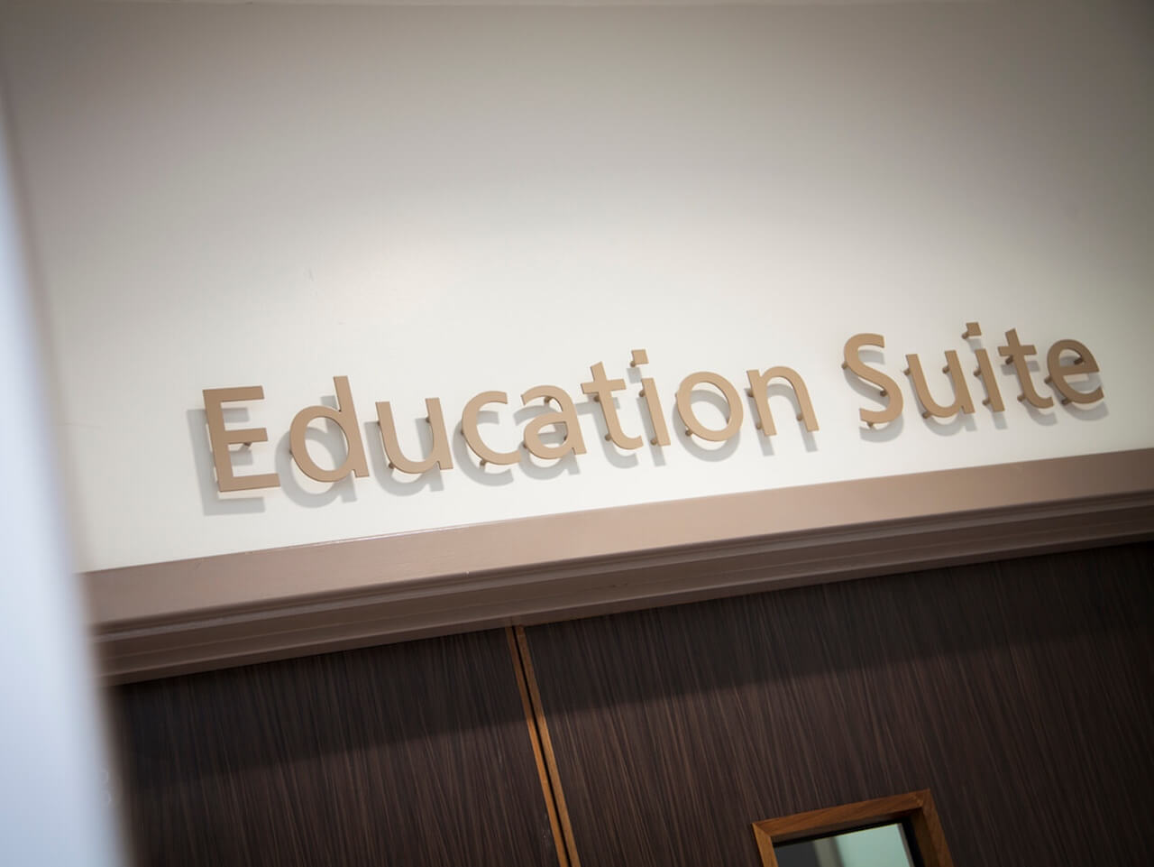 3D lettering for the education suite