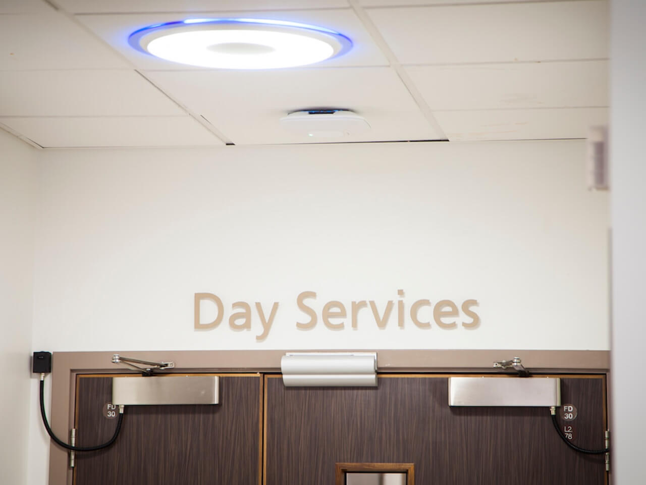 Wayfinding and internal signage with wall mounted lettering