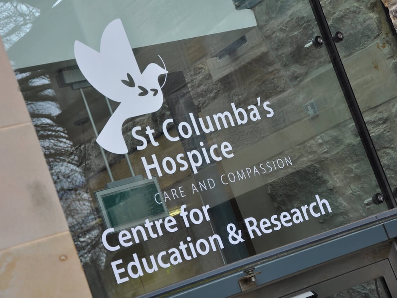 Manifestation wayfinding for St Columba's Hospice