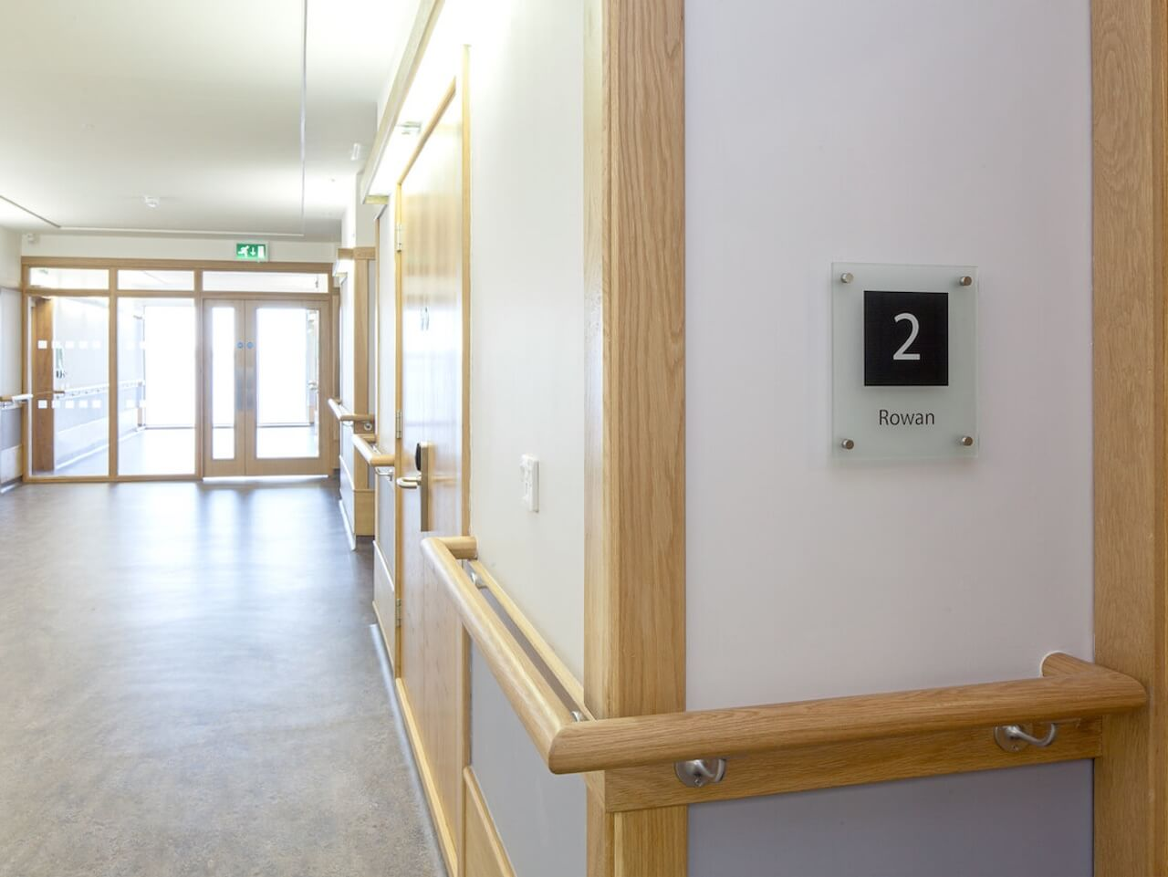 Wall mounted room signage and numbering