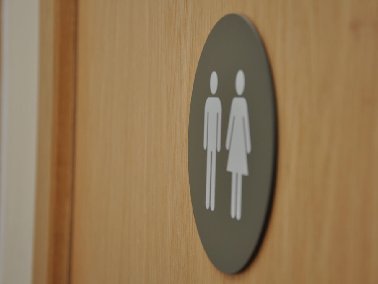Pictogram toilet signs at St Columba's Hospice