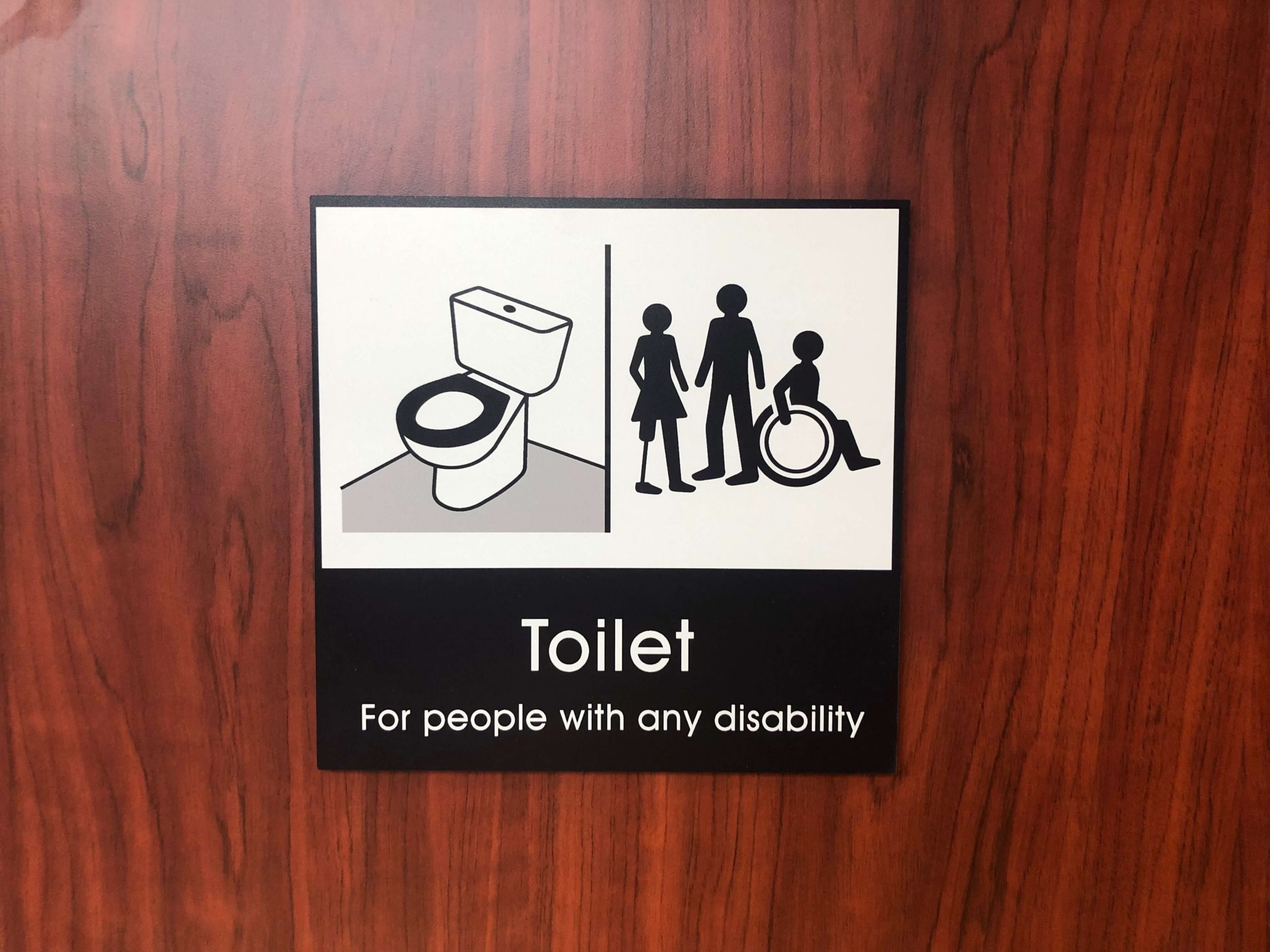 Dementia-friendly toilet signs at Alnwick Playhouse