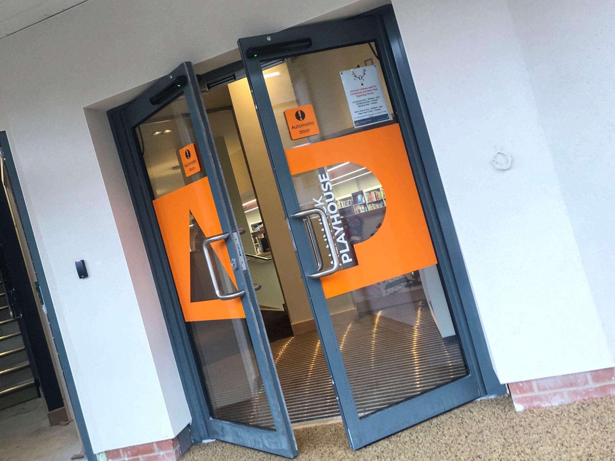 External door signage at Alnwick Playhouse
