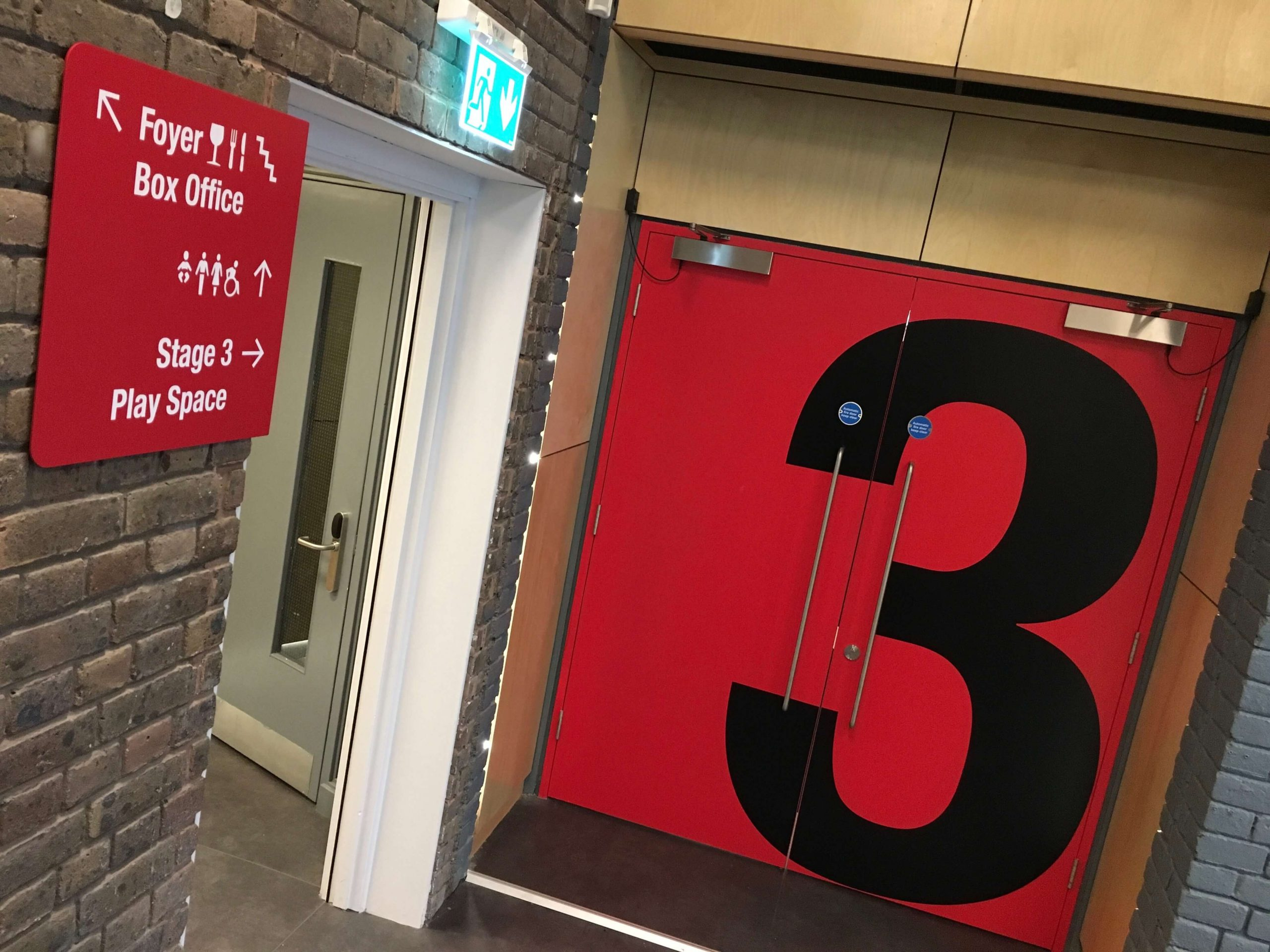 Building wayfinding signage at northern stage