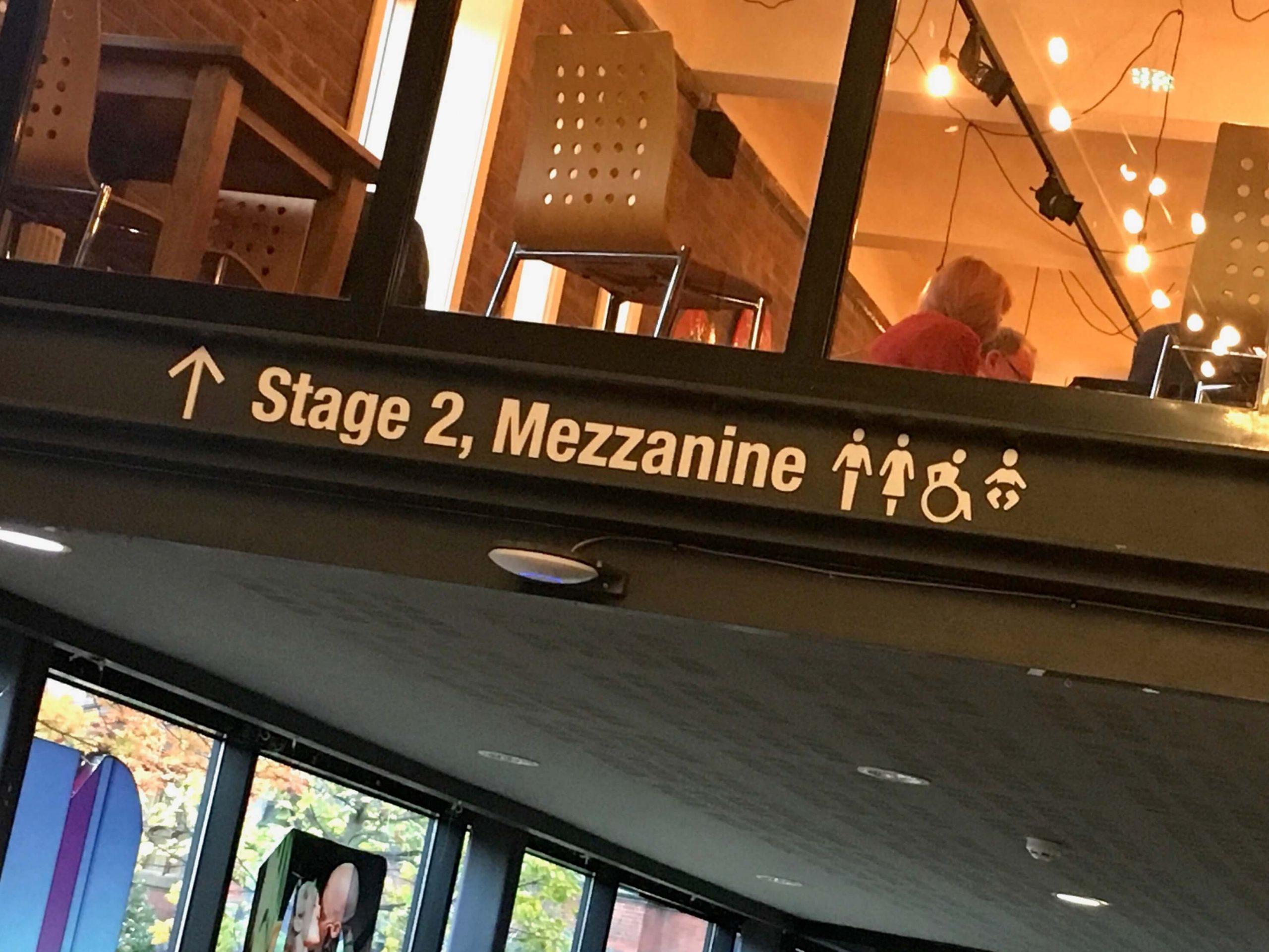 Cafe wayfinding signage