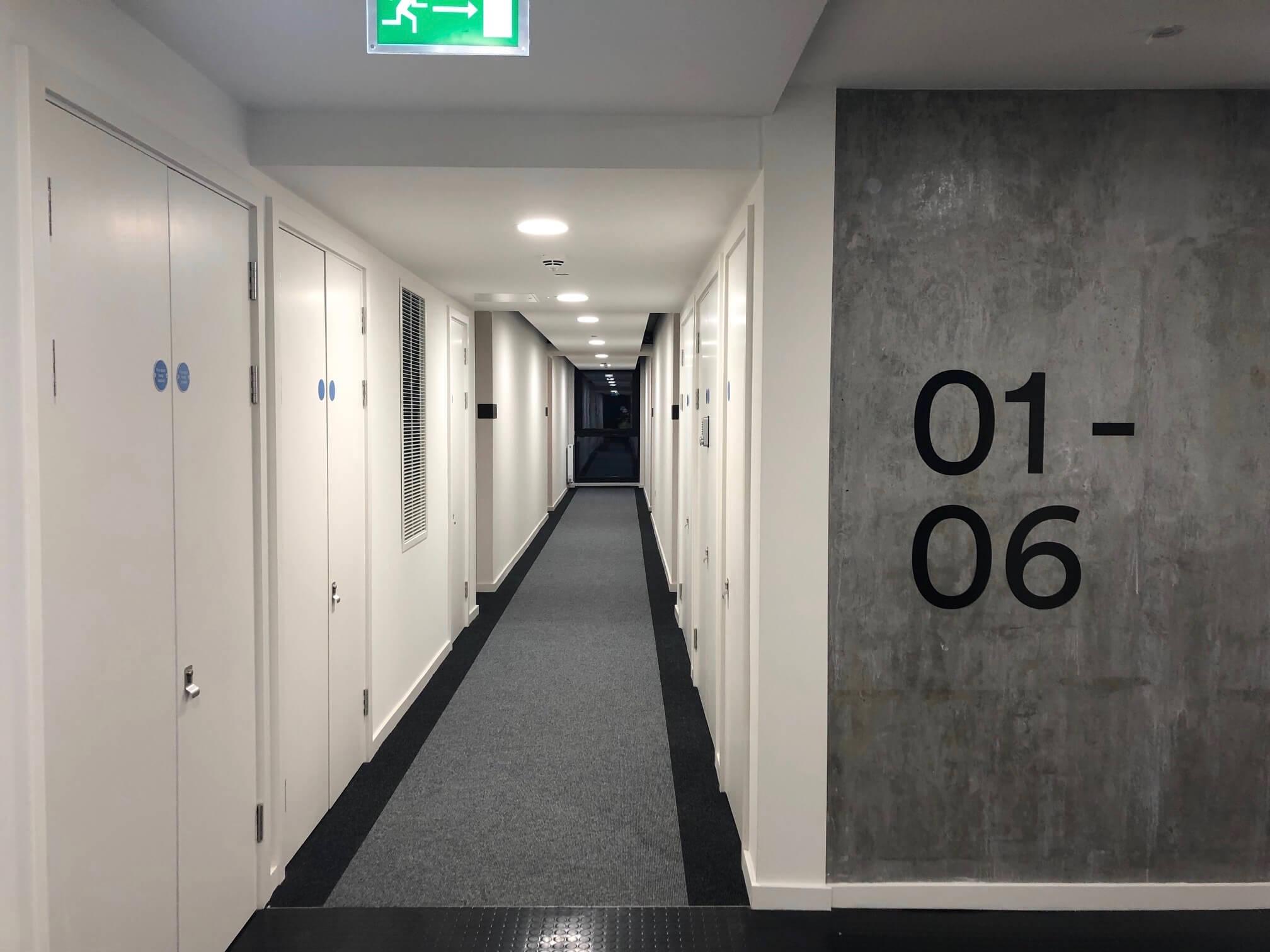 Corridor directional signage and wayfinding design