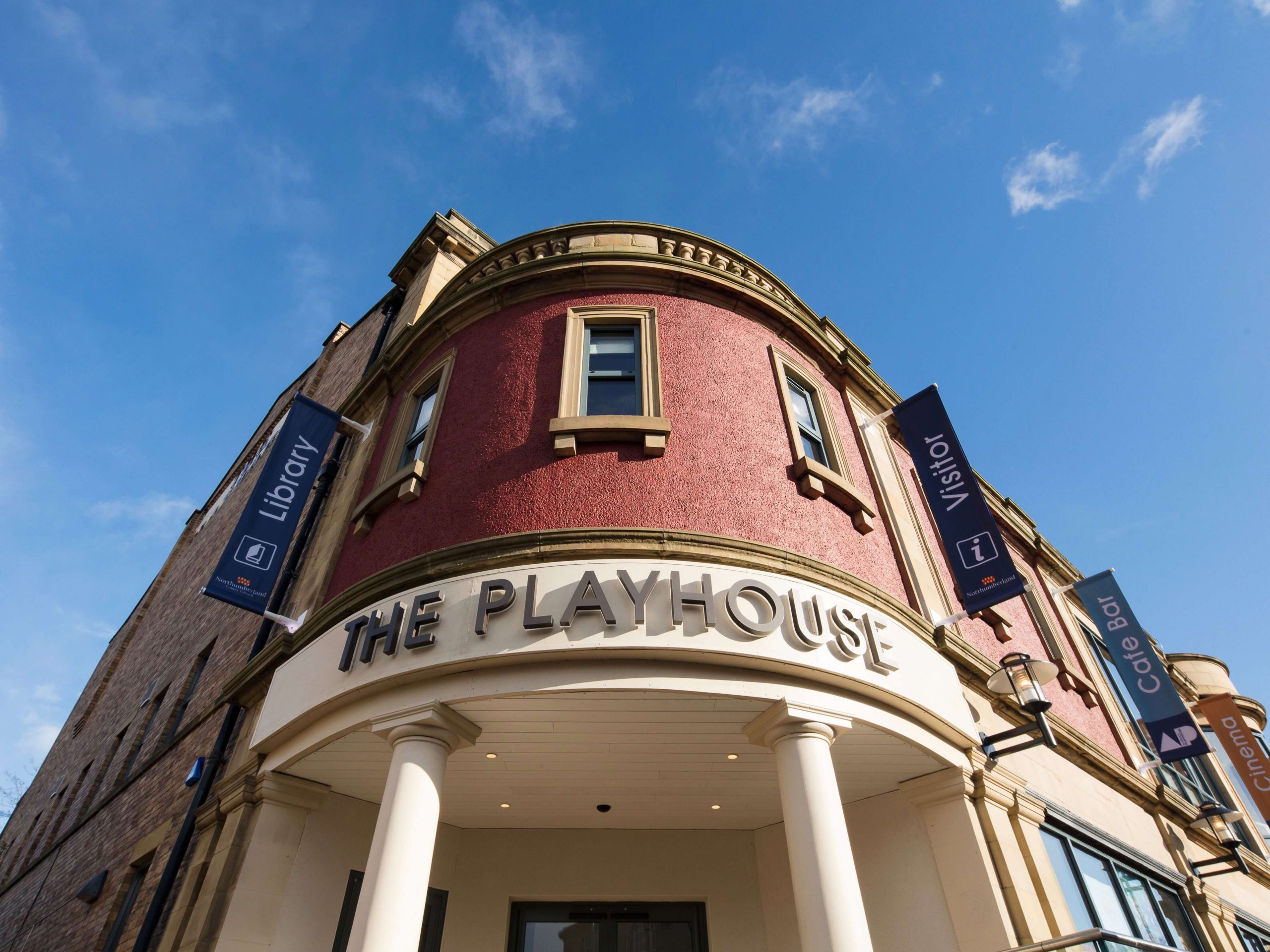 New exterior signage for Alnwick Playhouse