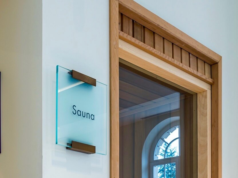 Audley Villages interior signage by Picto