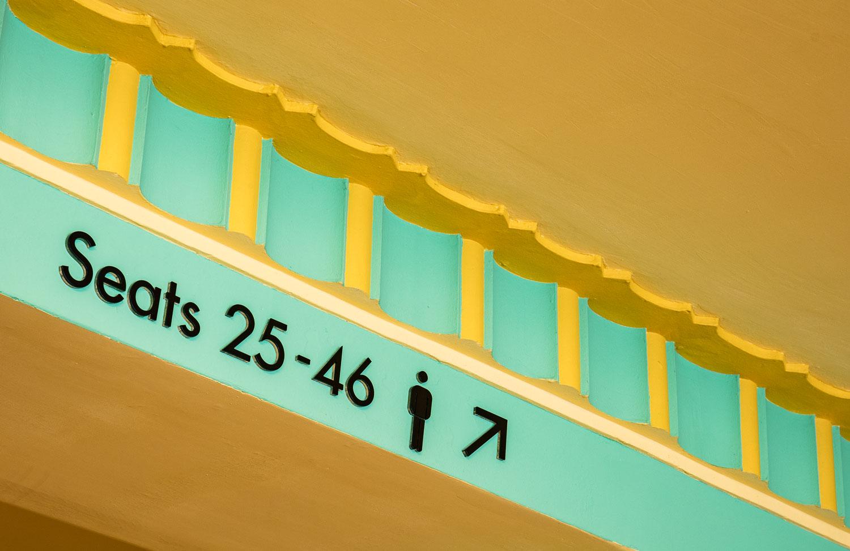 directional signage at Stockton Globe