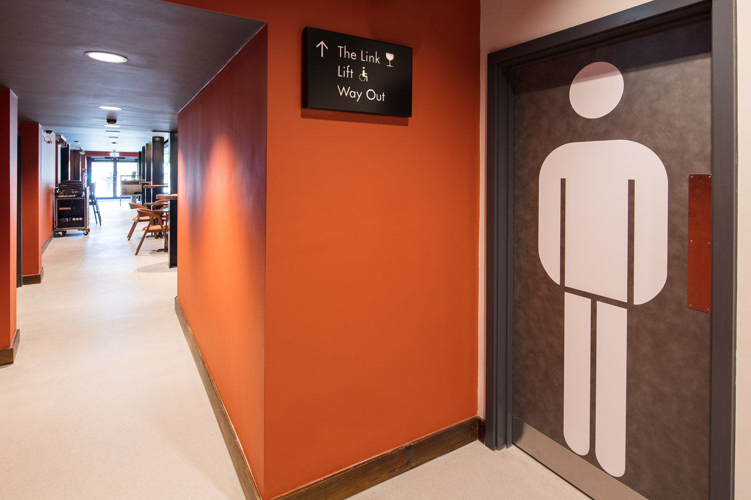 The Link toilet signage and wayfinding